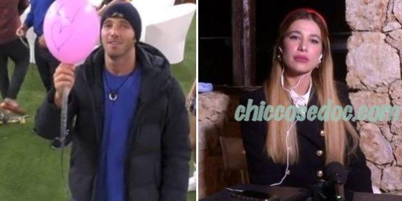 """""""GRANDE FRATELLO VIP 4"""" - Paolo Ciavarro fa volare un palloncino per la fidanzata Clizia Incorvaia.."""