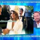 """""""DOMENICA LIVE"""": DOPO LE CELEBRATE NOZZE, SAMANTA TOGNI IN STUDIO CON IL NEOMARITO MARIO RUSSO.."""