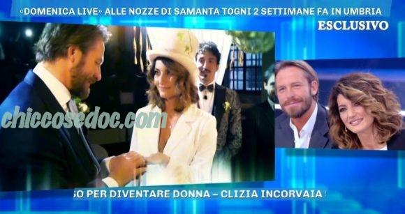 """""""DOMENICA LIVE"""" - Dopo le celebrate nozze, Samanta Togni in studio con il neomarito Mario Russo.."""