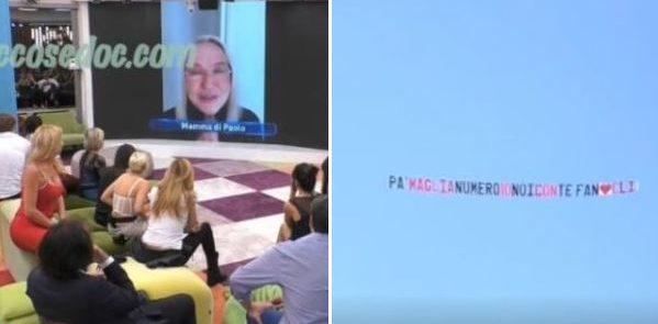 """""""GRANDE FRATELLO VIP 4"""" - Il videomessaggio di Eleonora Giorgi per rassicurare il figlio Paolo Ciavarro ed il nuovo aereo fatto volare per lui sulla """"Casa"""" con il nome di Clizia Incorvaia.."""