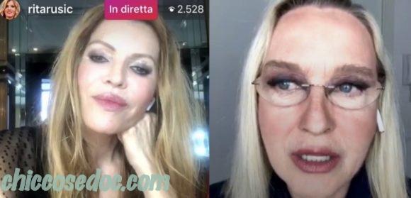 """""""GRANDE FRATELLO VIP 4"""" - Rita Rusic ed Eleonora Giorgi in diretta Instagram condivisa.."""