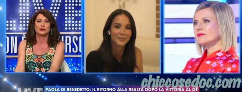 """""""GRANDE FRATELLO VIP 4"""" - A """"Live - Non è la d'Urso"""", la stoccata di Vladimir Luxuria alla vincitrice Paola Di Benedetto.."""