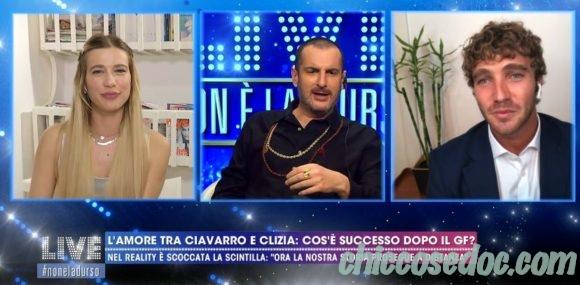 """""""GRANDE FRATELLO VIP 4"""" - A """"Live - Non è la d'Urso"""", Costantino Della Gherardesca scettico sulla storia nata sotto le telecamere fra due suoi ex """"viaggiatori"""", Clizia Incorvaia e Paolo Ciavarro.."""