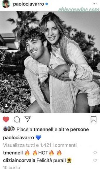 """""""GRANDE FRATELLO VIP 4"""" - Paolo Ciavarro e la fidanzata Clizia Incorvaia in copertina sul settimanale """"Chi""""..."""