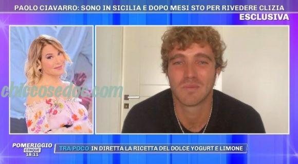 """""""GRANDE FRATELLO VIP 4"""" - A """"Pomeriggio 5"""", Paolo Ciavarro già in quarantena in Sicilia per l'attesa reunion con la fidanzata Clizia Incorvaia.."""