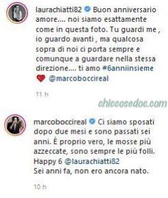 Laura Chiatti ed il marito Marco Bocci a sei anni dalle celebrate nozze..