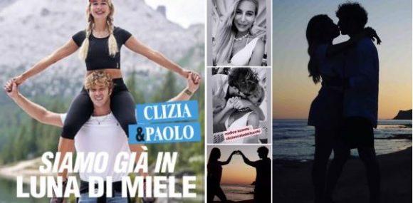 """""""GRANDE FRATELLO VIP 4"""" - Paolo Ciavarro e la fidanzata Clizia Incorvaia a """"Chi"""".."""