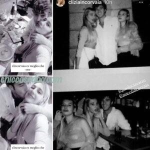 """<b>""""GRANDE FRATELLO VIP 4"""" - Paolo Ciavarro e la fidanzata Clizia Incorvaia, insieme con la sorella di lei.. Micol, a Milano..  Fonte: Instagram Stories</b>"""