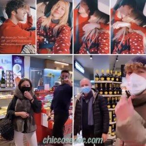 """<b>""""GRANDE FRATELLO VIP 4"""" - Paolo Ciavarro e la fidanzata Clizia Incorvaia riuniti a Roma per le feste, ai saluti d'incrocio in autogrill con la famiglia di lei..  Fonte: Instagram Stories</b>"""