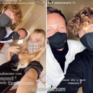 """<b>""""GRANDE FRATELLO VIP 4"""" - Paolo Ciavarro e la fidanzata Clizia Incorvaia riuniti a Roma con il migliore amico di lui, Thomas.. e in diretta per gli auguri di """"Natale"""" ai followers..  Fonte: Instagram Stories</b>"""