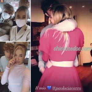 """<b>""""GRANDE FRATELLO VIP 4"""" - Paolo Ciavarro e la fidanzata Clizia Incorvaia, insieme, a Milano..  Fonte: Instagram</b>"""