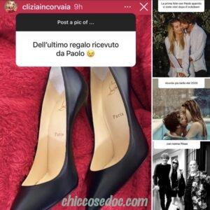 """<b>""""GRANDE FRATELLO VIP 4"""" - Primo """"Natale"""" in coppia, insieme a Roma a casa di lui, per Paolo Ciavarro e la fidanzata Clizia Incorvaia..  Fonte: Instagram Stories</b>"""