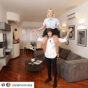 """<b>""""GRANDE FRATELLO VIP 4"""" - Clizia Incorvaia ed il fidanzato Paolo Ciavarro nell'home tour in scatti e video della loro nuova casa..  Fonte: Instagram</b>"""