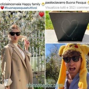 """<b>""""GRANDE FRATELLO VIP 4"""" - Pasqua in famiglia, con la """"suocera iconica"""" Eleonora Giorgi, per Clizia Incorvaia ed il fidanzato Paolo Ciavarro..  Fonte: Instagram Stories</b>"""