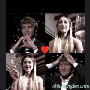 """<b>""""GRANDE FRATELLO VIP 4"""" - Paolo Ciavarro  e la fidanzata Clizia Incorvaia fermano la ricorrenza del loro 14esimo mesiversario nei social.. Fonte: Instagram Stories</b>"""