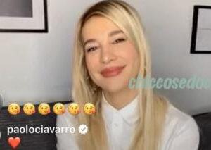 """<b>""""GRANDE FRATELLO VIP 4"""" - Clizia Incorvaia in diretta Instagram condivisa con il giornale """"Gente"""", dopo la copertina in cui posa dalla loro casa con il fidanzato Paolo Ciavarro..  Fonte: Twitter</b>"""